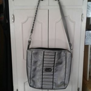 Large puma bag in silver and black